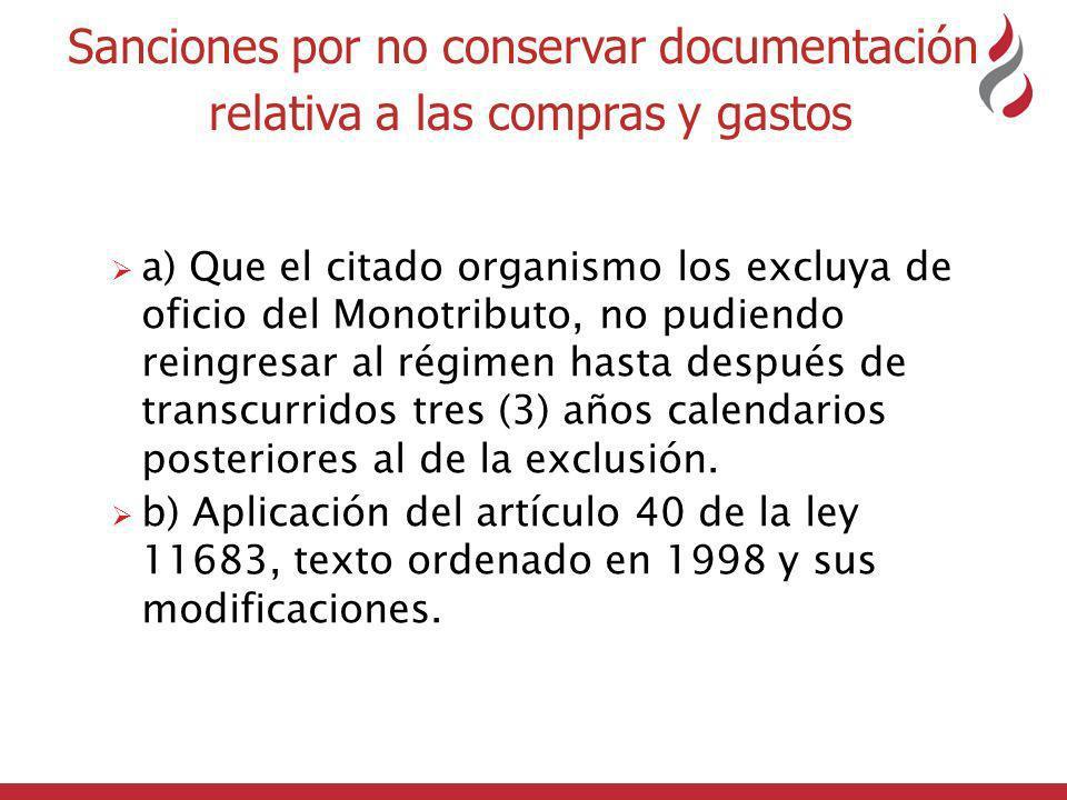 Sanciones por no conservar documentación