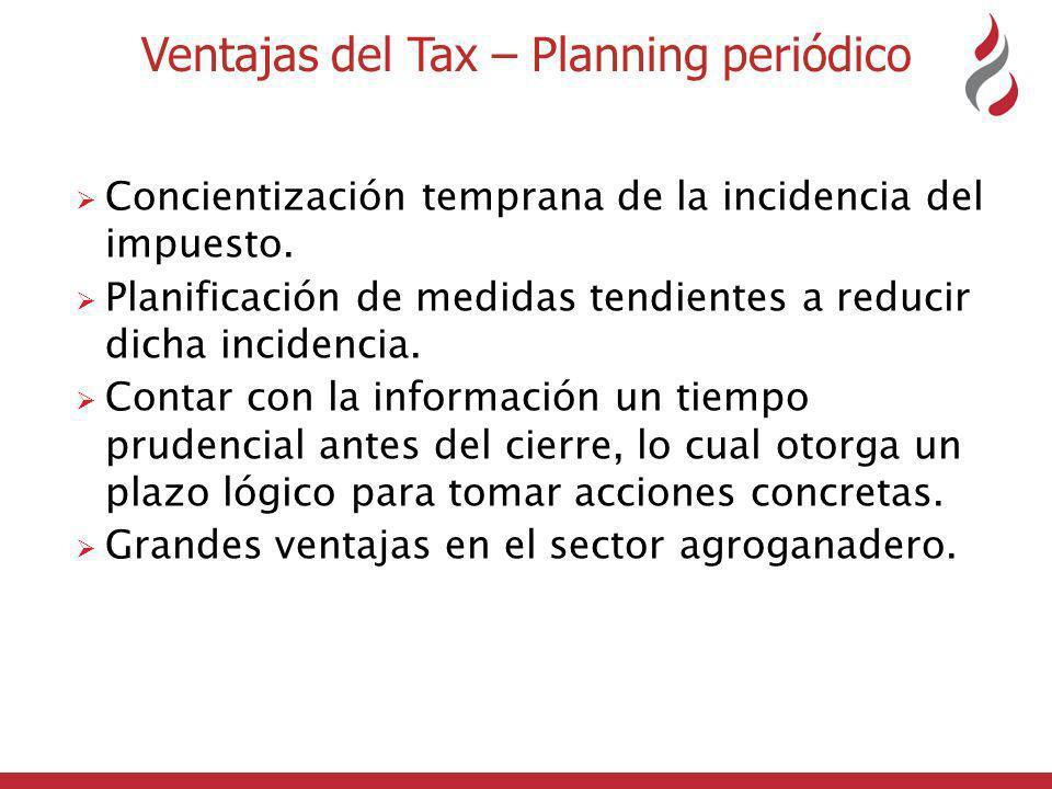 Ventajas del Tax – Planning periódico