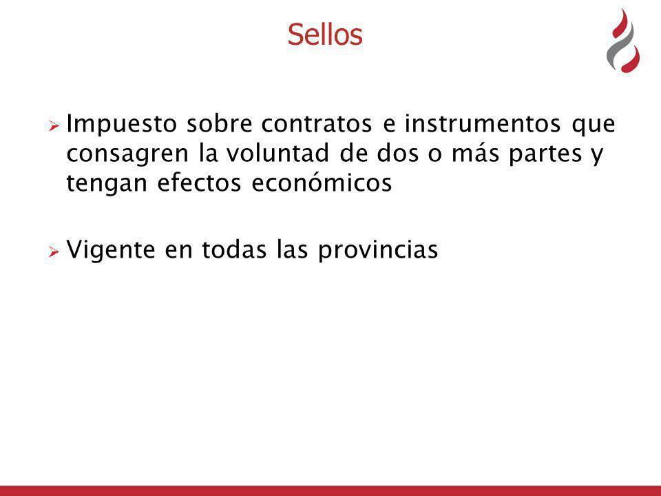 Sellos Impuesto sobre contratos e instrumentos que consagren la voluntad de dos o más partes y tengan efectos económicos.
