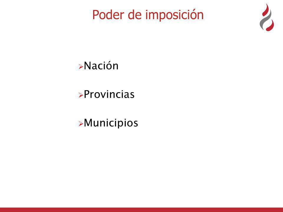 Poder de imposición Nación Provincias Municipios