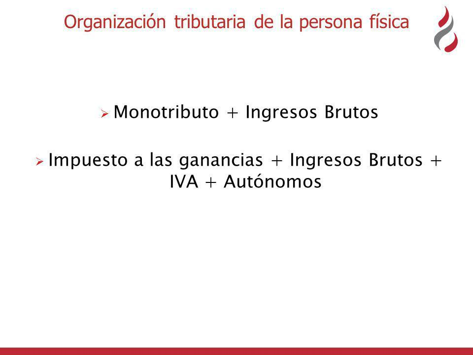 Organización tributaria de la persona física