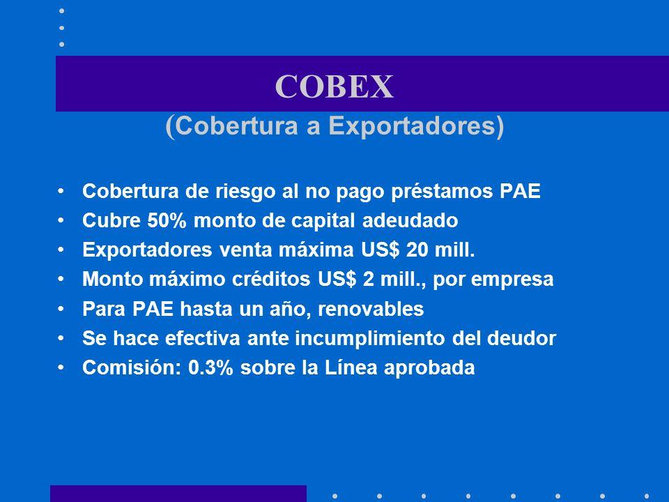 COBEX (Cobertura a Exportadores)