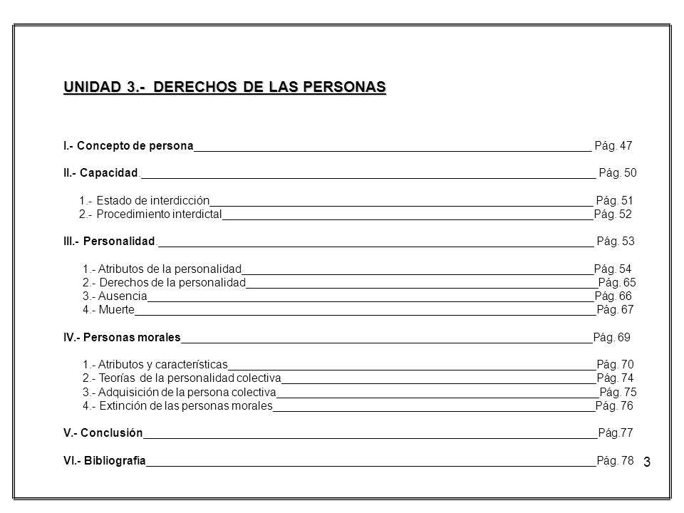 UNIDAD 3.- DERECHOS DE LAS PERSONAS