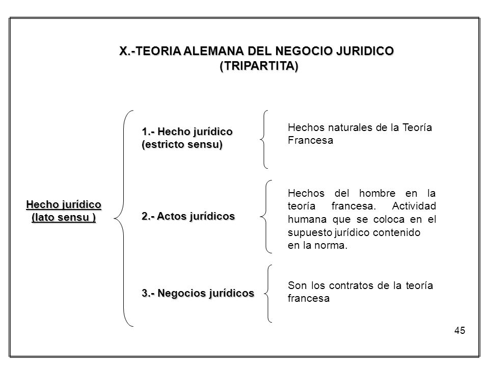 X.-TEORIA ALEMANA DEL NEGOCIO JURIDICO