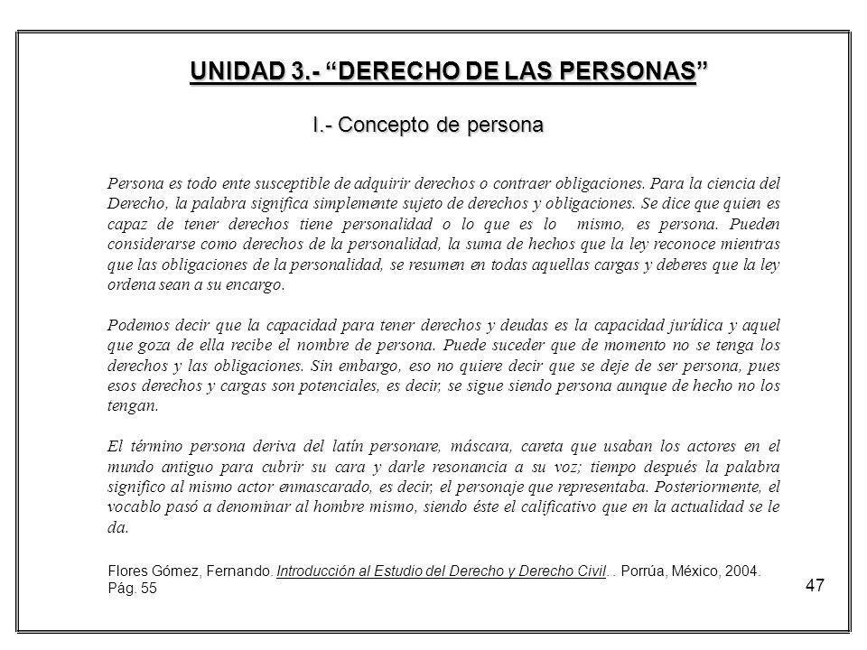 UNIDAD 3.- DERECHO DE LAS PERSONAS