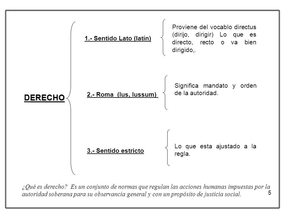 Proviene del vocablo directus (dirijo, dirigir) Lo que es directo, recto o va bien dirigido,.