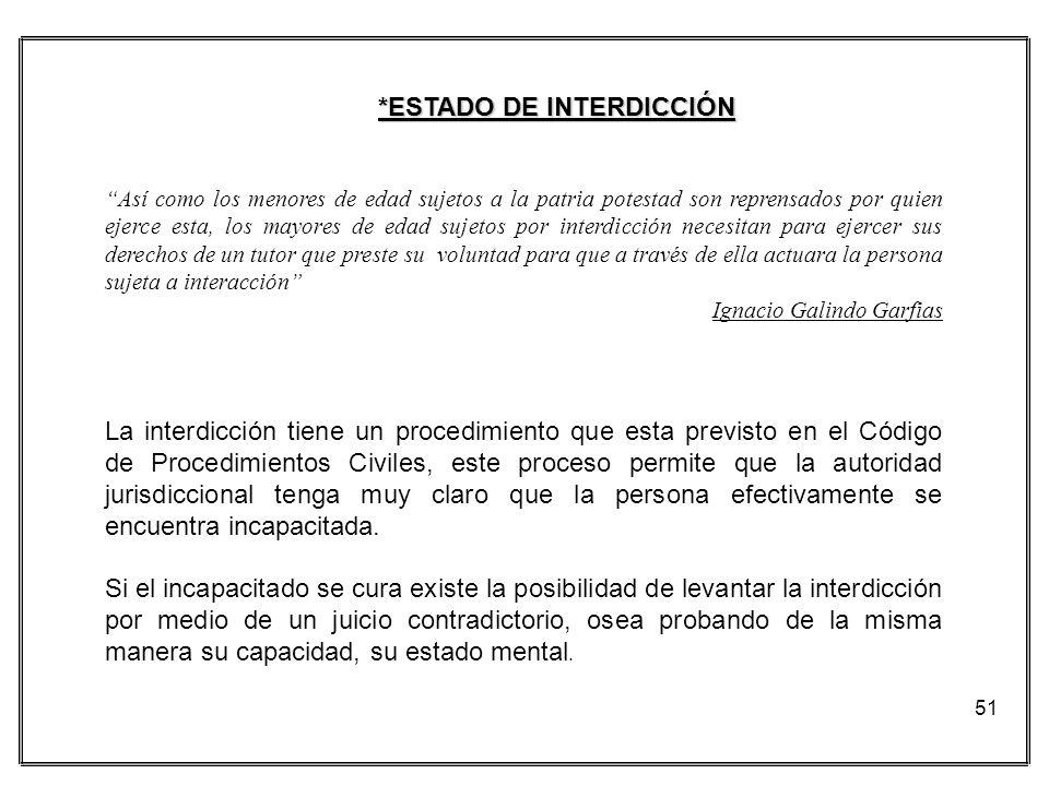 *ESTADO DE INTERDICCIÓN