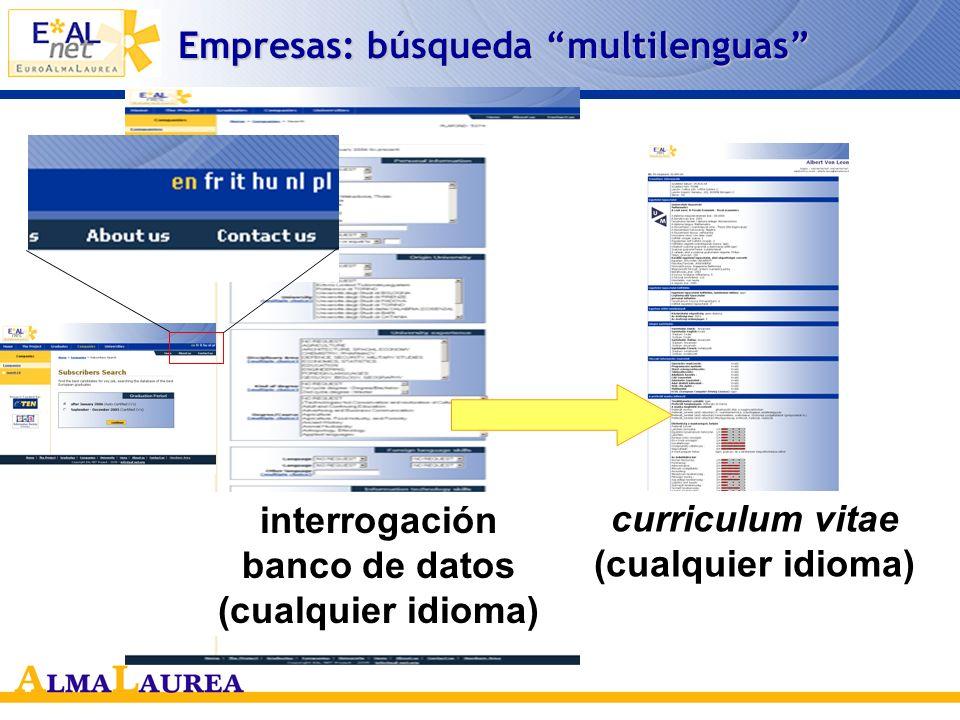 Empresas: búsqueda multilenguas