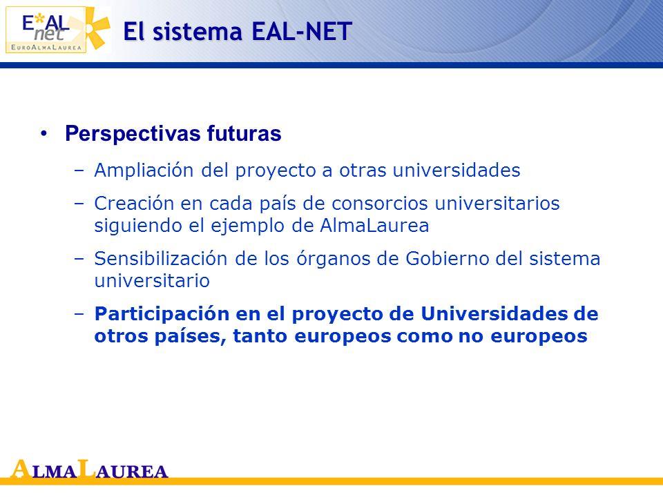 El sistema EAL-NET Perspectivas futuras