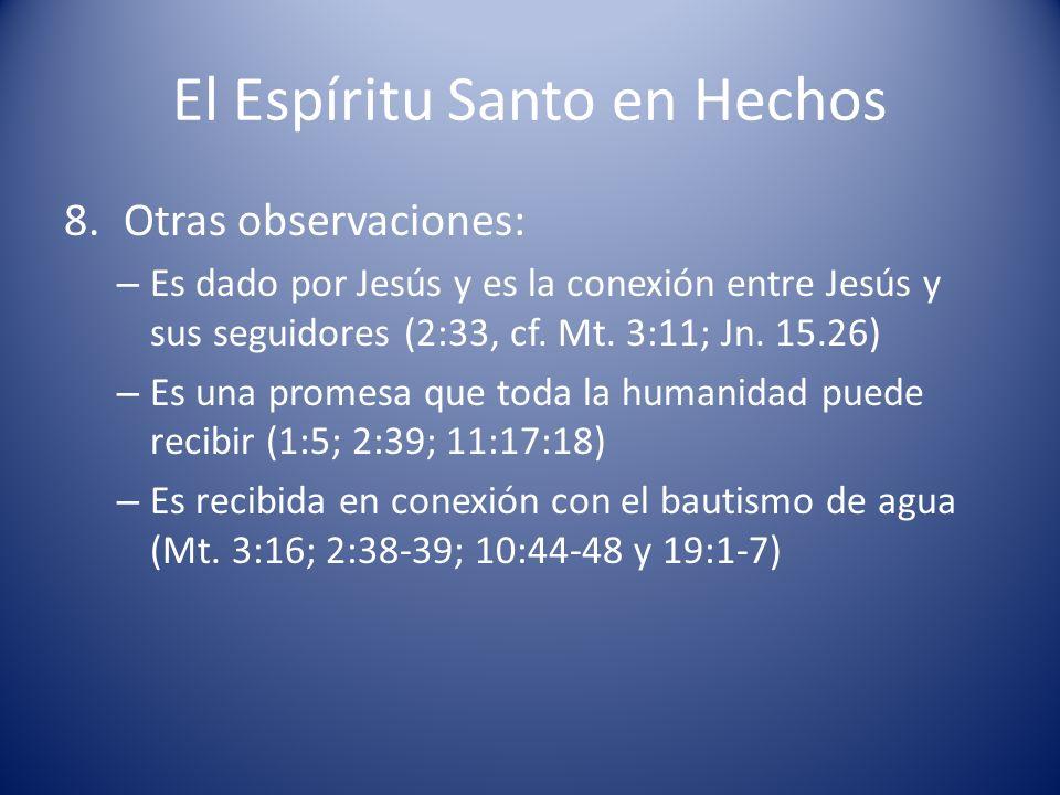 El Espíritu Santo en Hechos