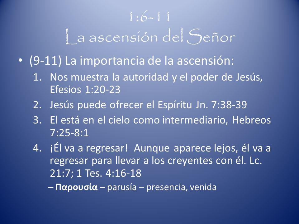 1:6-11 La ascensión del Señor
