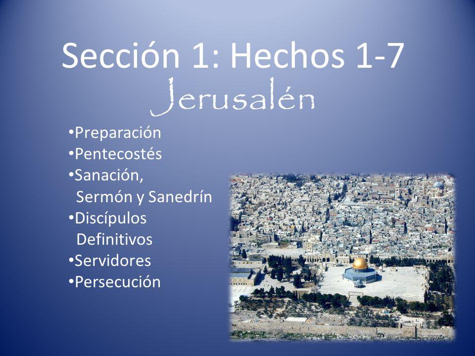 Sección 1: Hechos 1-7 Jerusalén