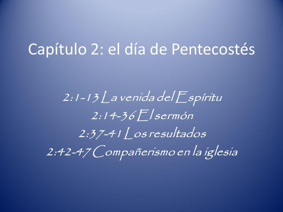 Capítulo 2: el día de Pentecostés