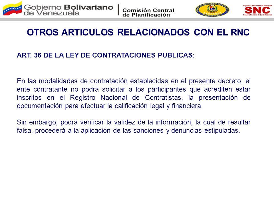OTROS ARTICULOS RELACIONADOS CON EL RNC