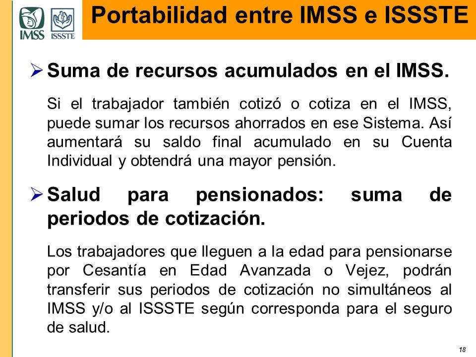 Portabilidad entre IMSS e ISSSTE