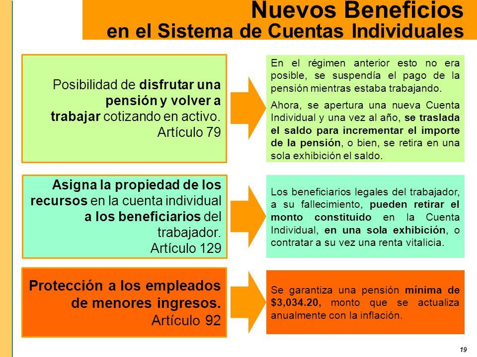Nuevos Beneficios en el Sistema de Cuentas Individuales