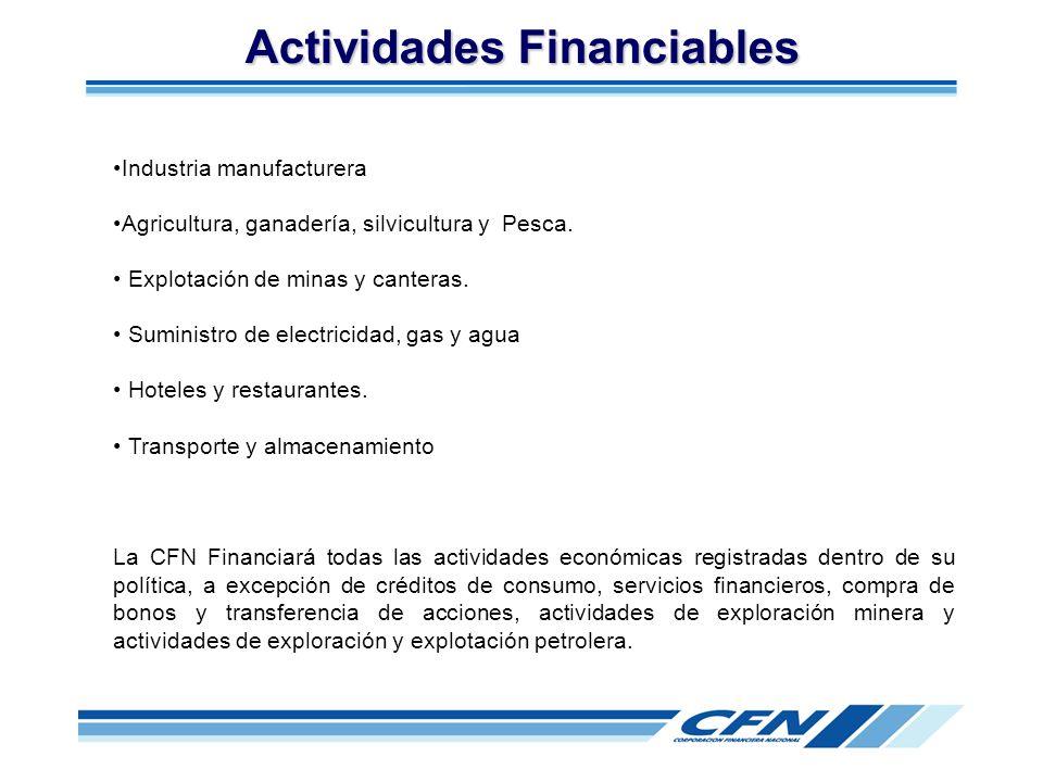 Actividades Financiables