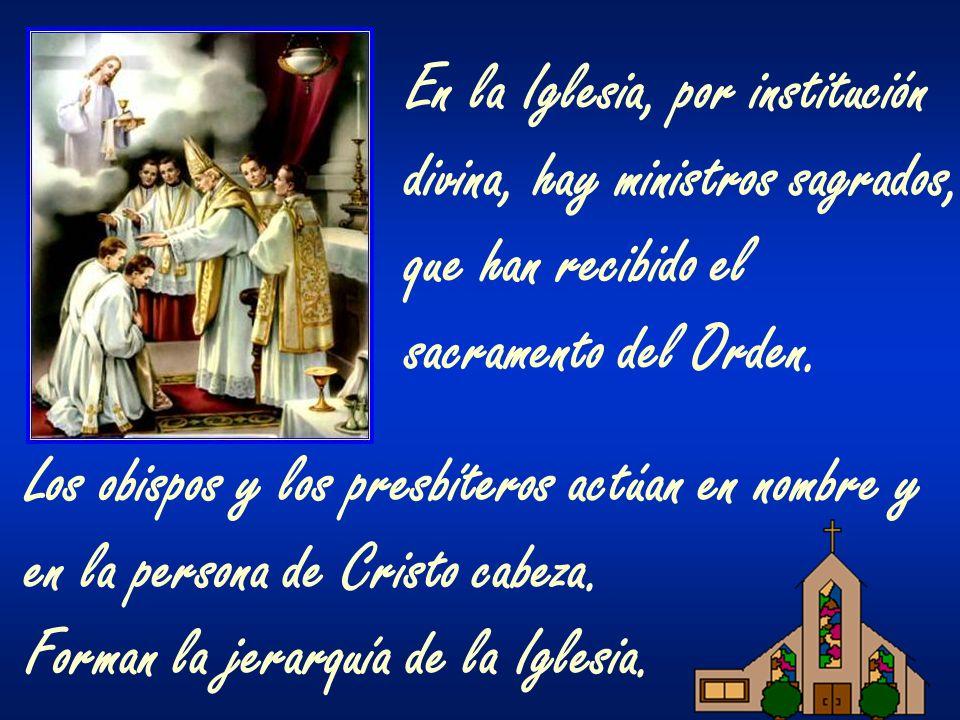 En la Iglesia, por institución