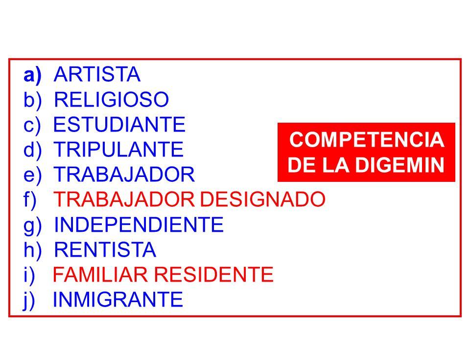 COMPETENCIA DE LA DIGEMIN