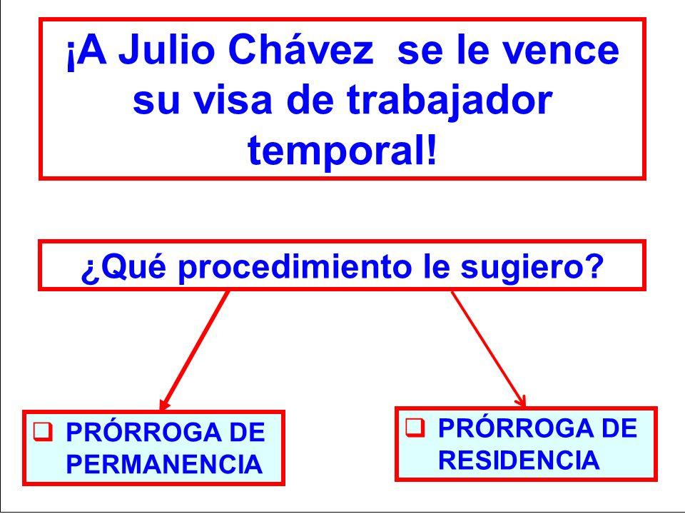 ¡A Julio Chávez se le vence su visa de trabajador temporal!
