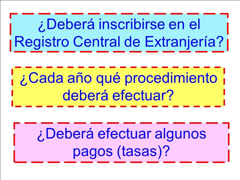 ¿Deberá inscribirse en el Registro Central de Extranjería