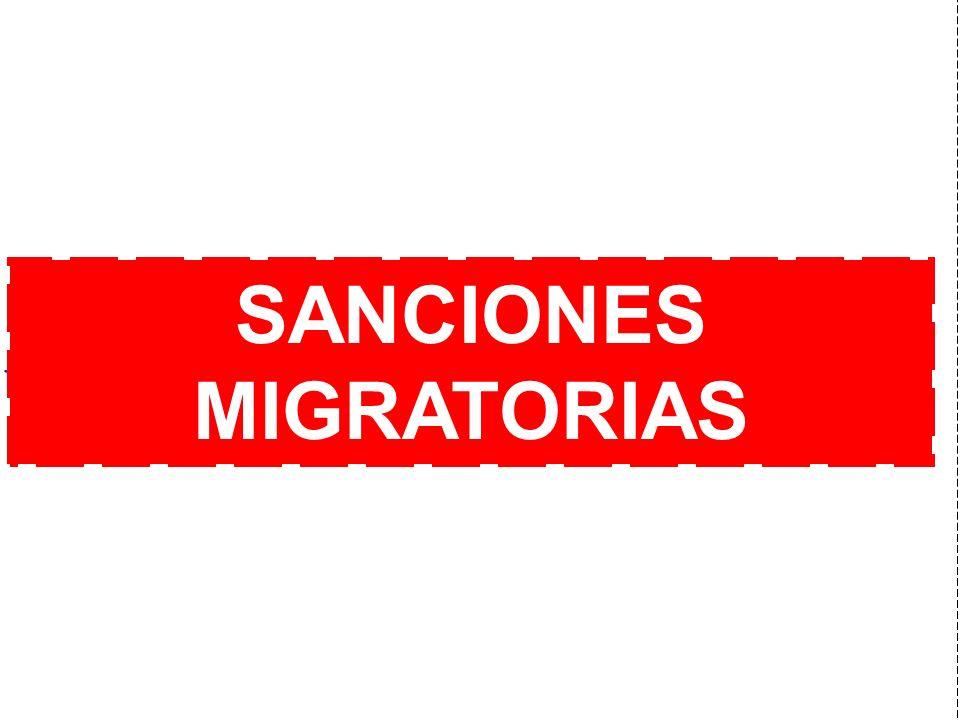 SANCIONES MIGRATORIAS