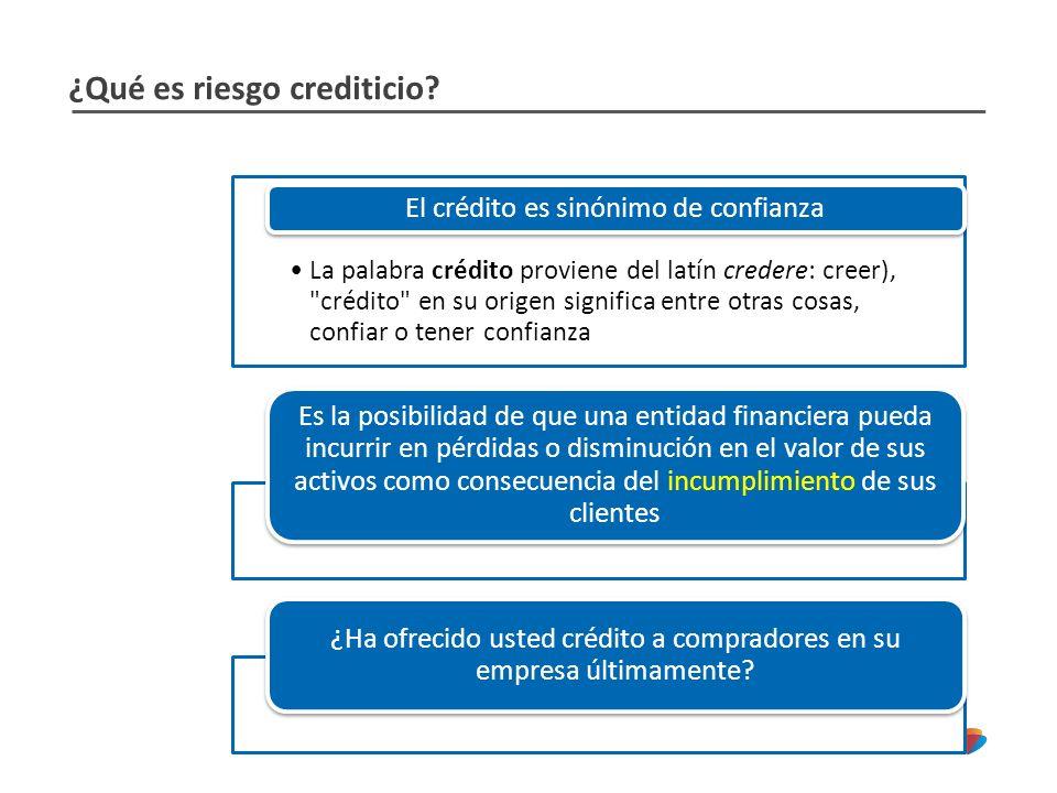 ¿Qué es riesgo crediticio