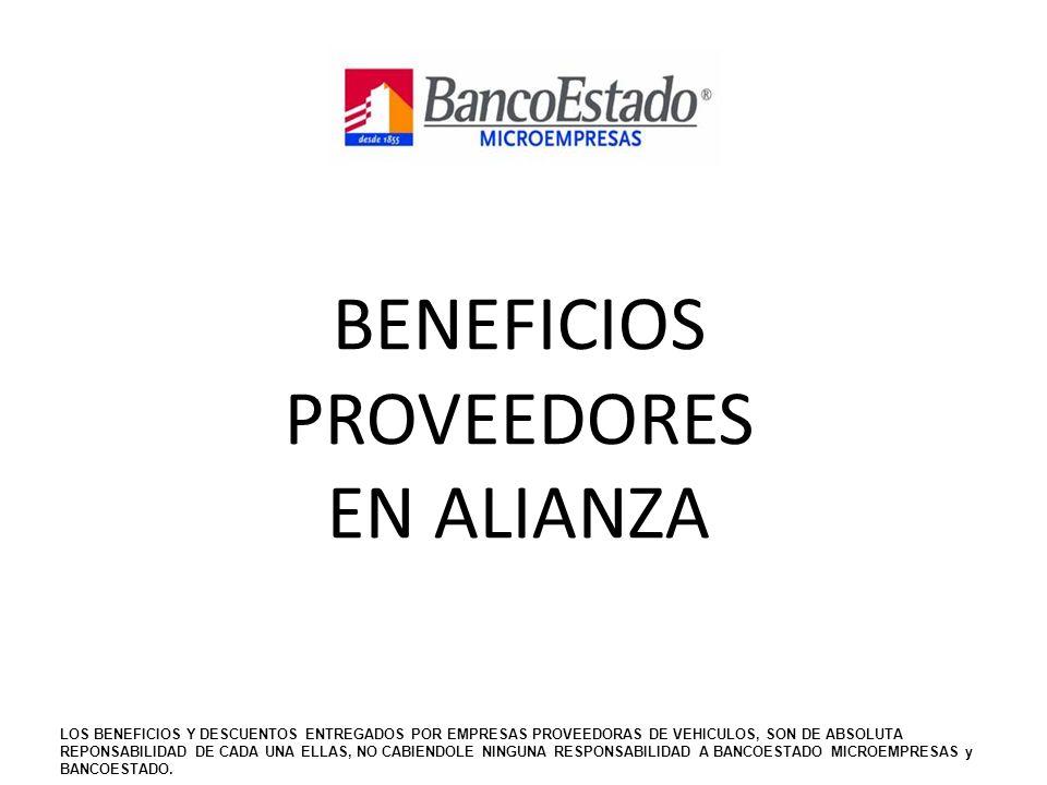 BENEFICIOS PROVEEDORES EN ALIANZA