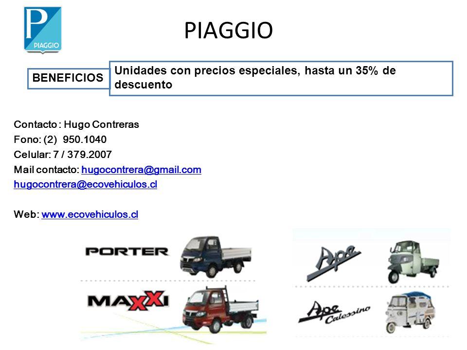 PIAGGIO Unidades con precios especiales, hasta un 35% de descuento