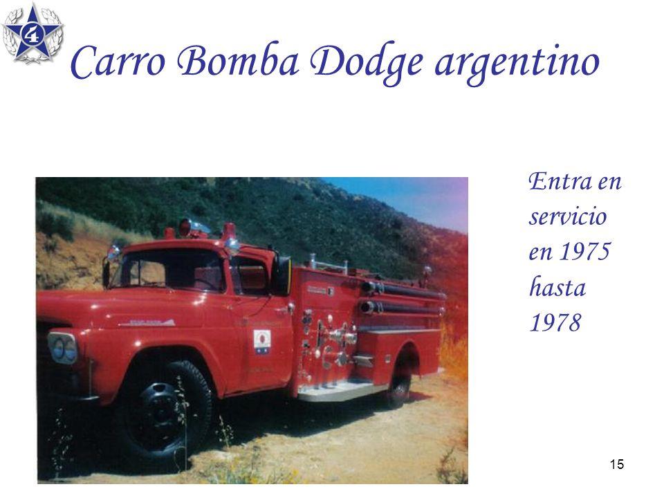 Carro Bomba Dodge argentino
