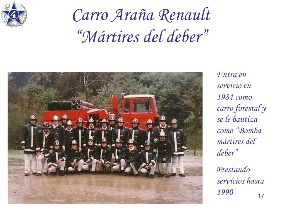 Carro Araña Renault Mártires del deber