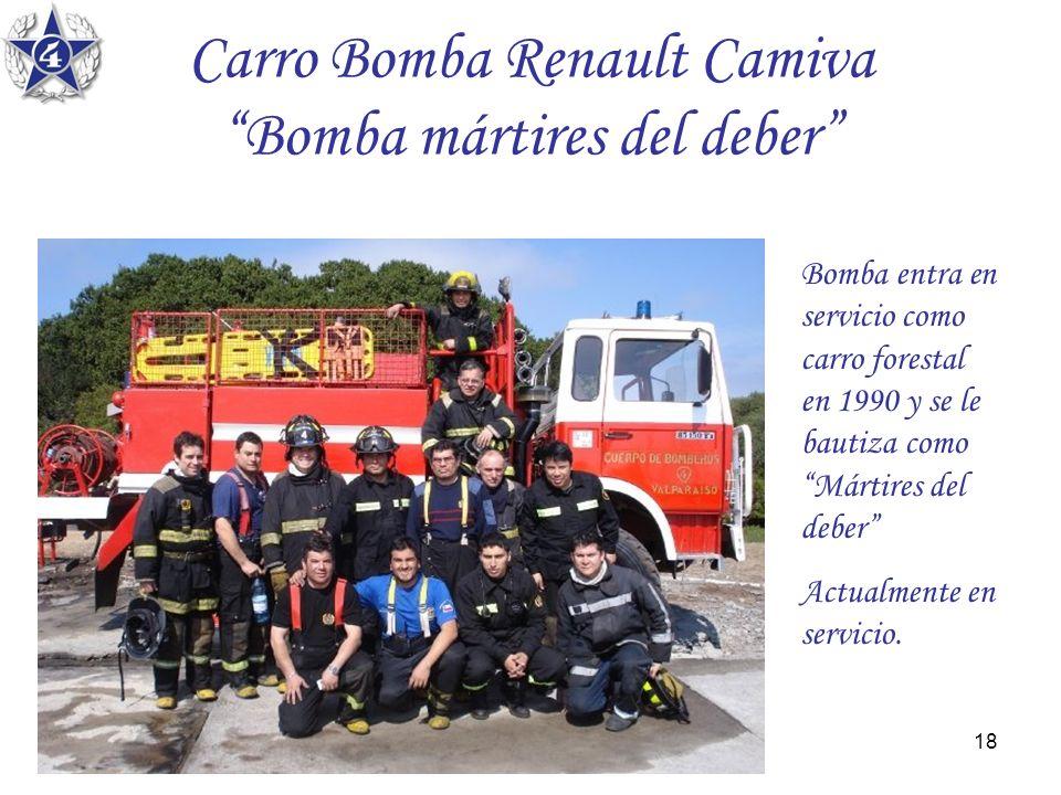 Carro Bomba Renault Camiva Bomba mártires del deber