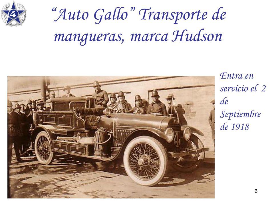 Auto Gallo Transporte de mangueras, marca Hudson