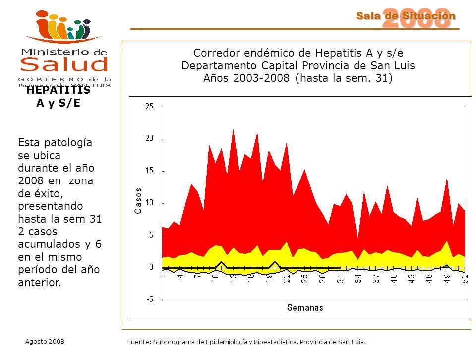 Corredor endémico de Hepatitis A y s/e