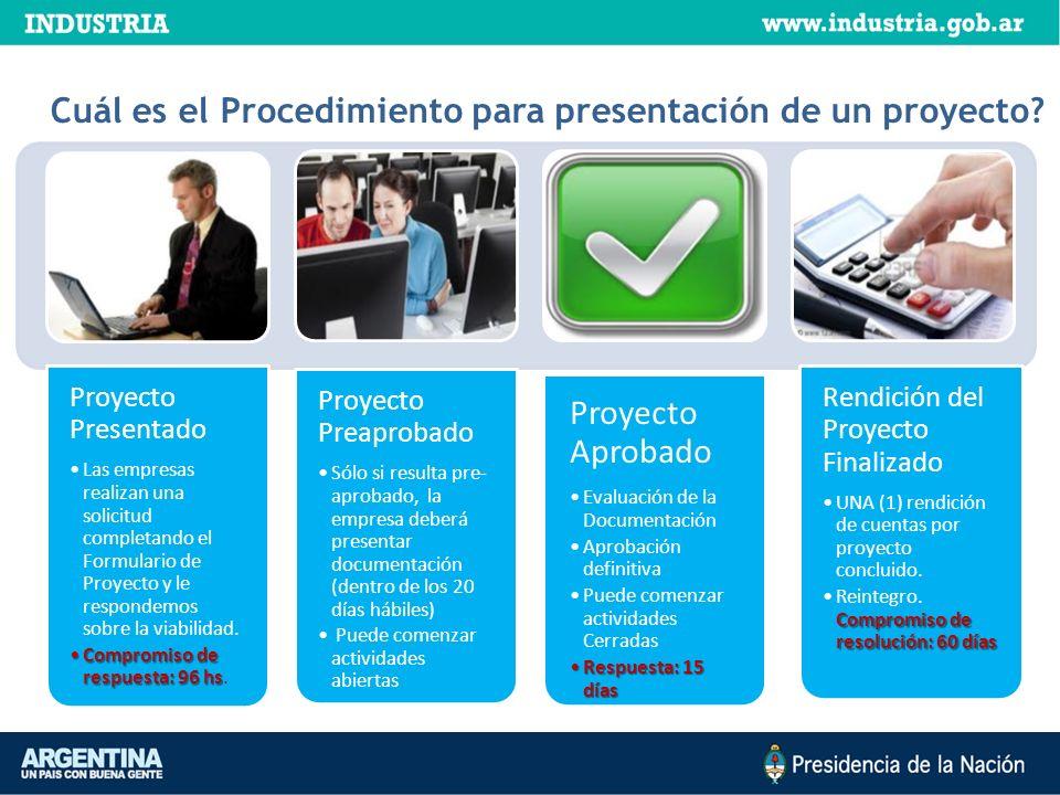¿Cuál es el Procedimiento para presentación de un proyecto