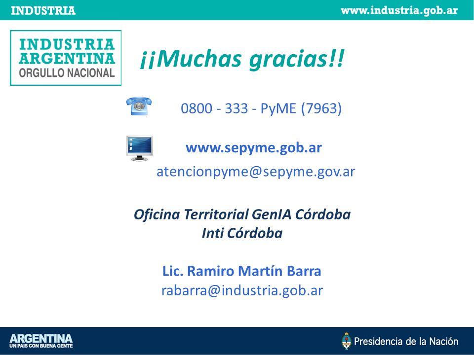Oficina Territorial GenIA Córdoba Lic. Ramiro Martín Barra