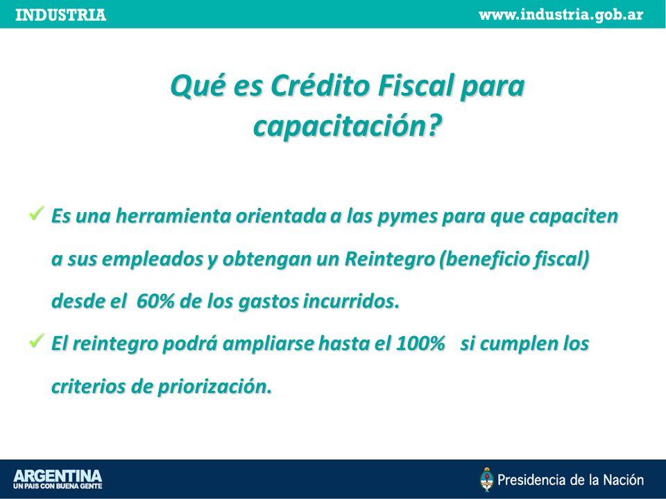 Qué es Crédito Fiscal para capacitación