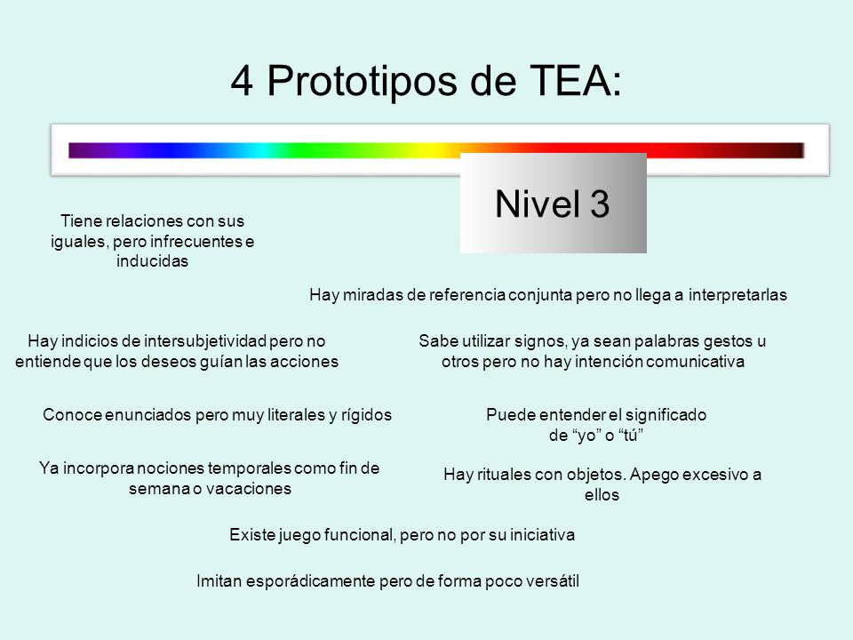 4 Prototipos de TEA: Nivel 3