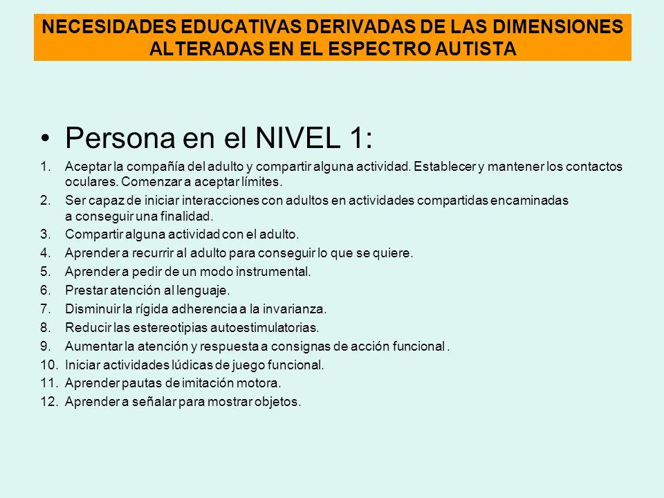 NECESIDADES EDUCATIVAS DERIVADAS DE LAS DIMENSIONES ALTERADAS EN EL ESPECTRO AUTISTA