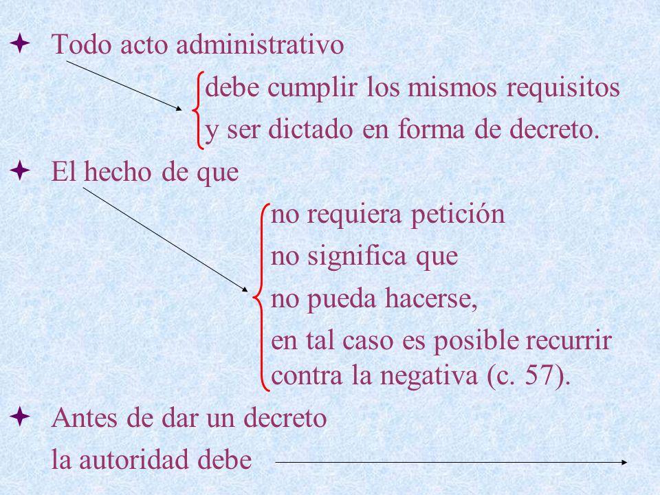 Todo acto administrativo