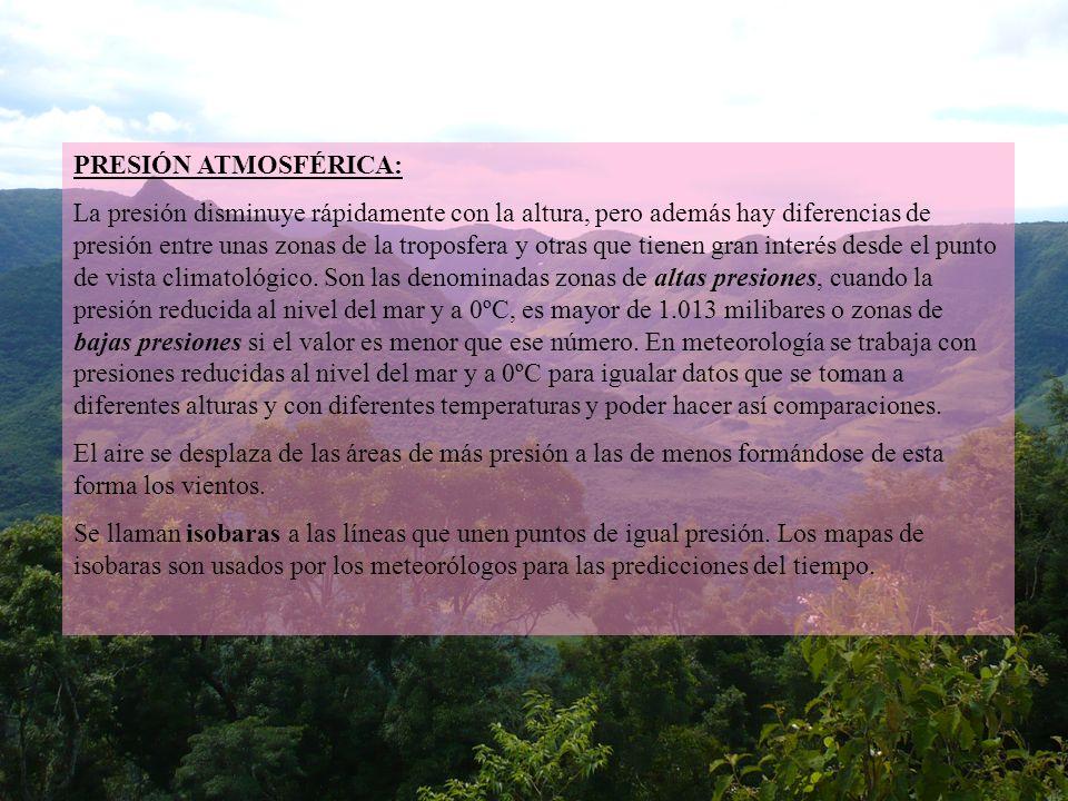 PRESIÓN ATMOSFÉRICA: