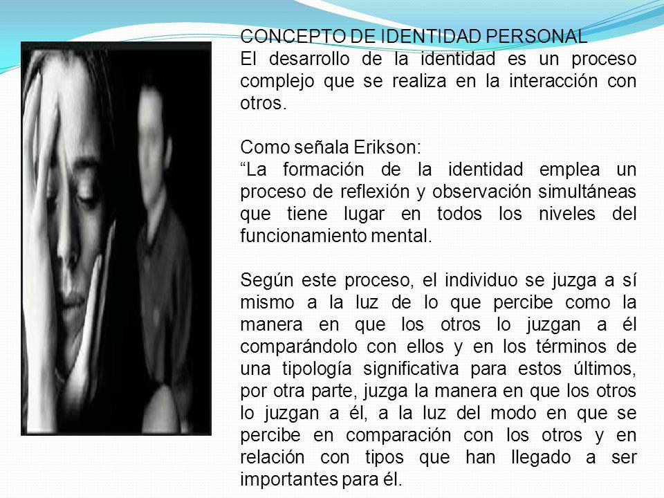 CONCEPTO DE IDENTIDAD PERSONAL