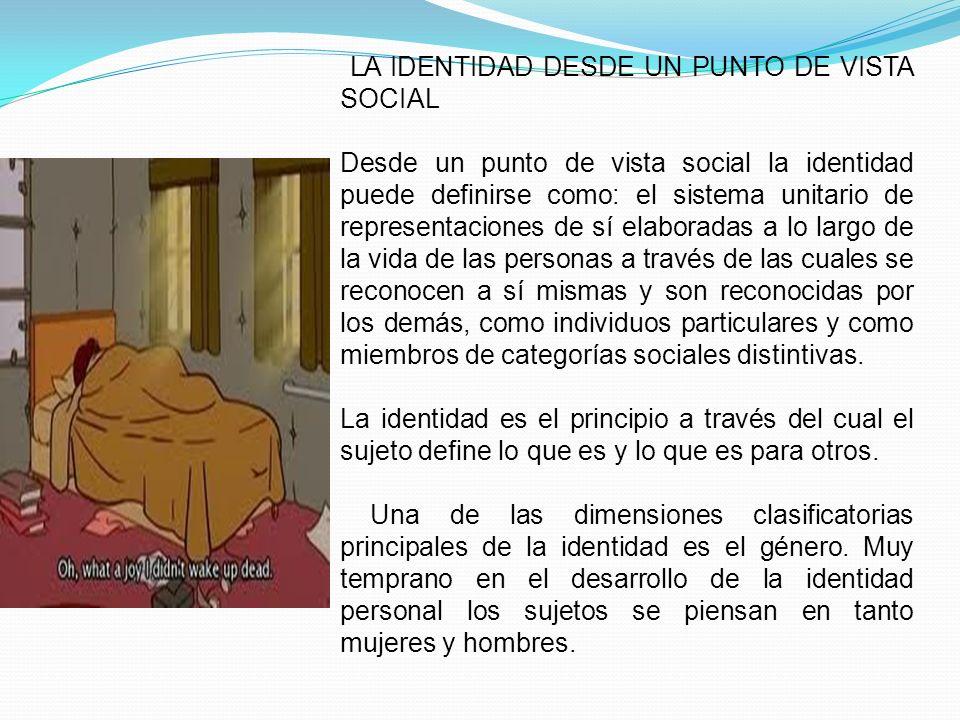 LA IDENTIDAD DESDE UN PUNTO DE VISTA SOCIAL