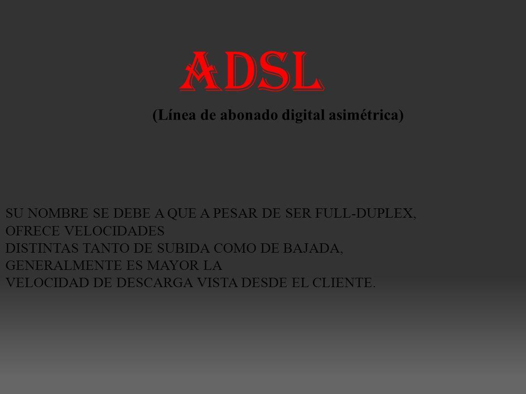 ADSL (Línea de abonado digital asimétrica)