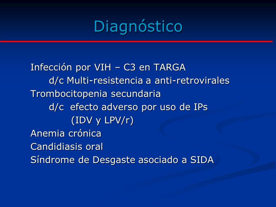Diagnóstico Infección por VIH – C3 en TARGA