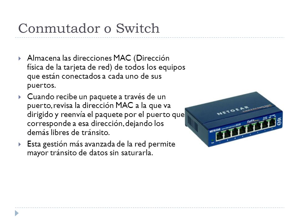 Conmutador o Switch