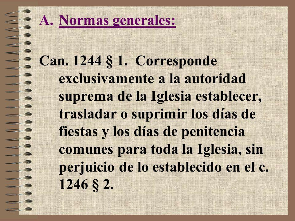 Normas generales: