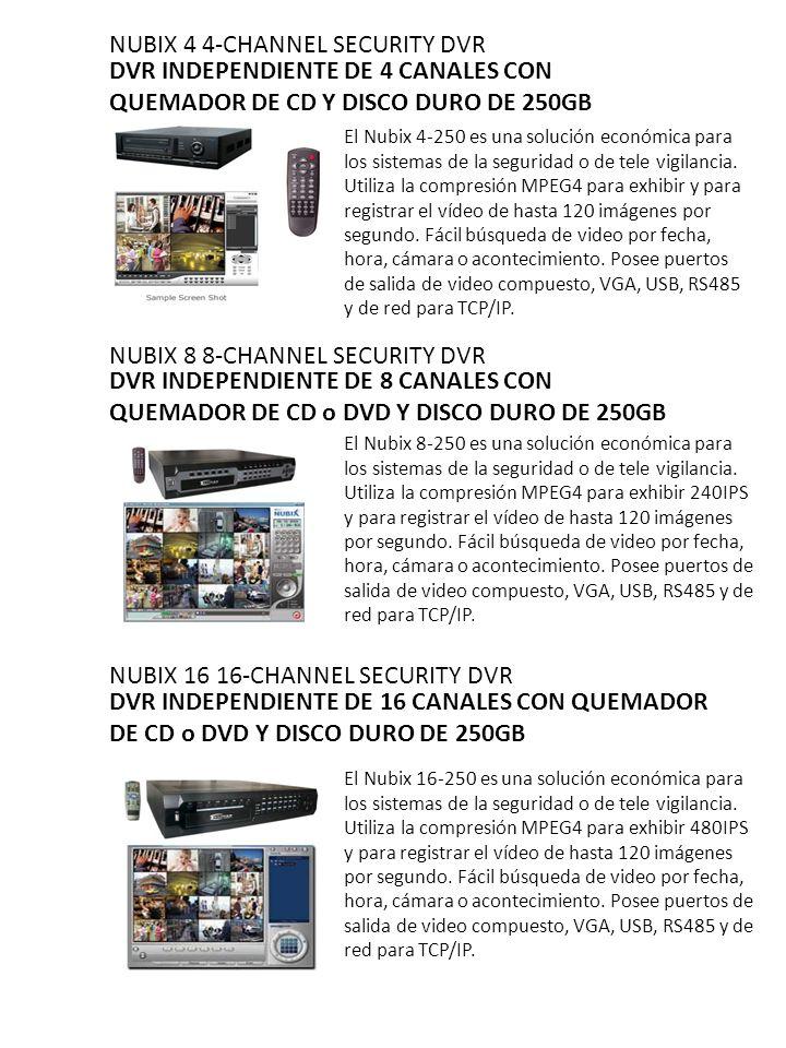 NUBIX 4 4-CHANNEL SECURITY DVR