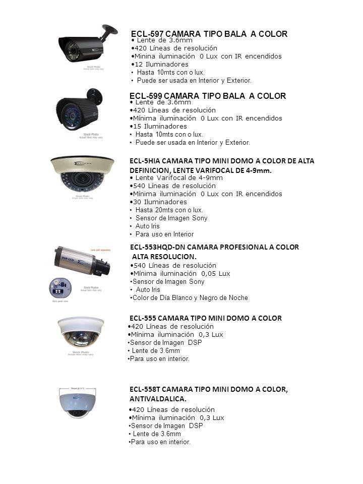 ECL-597 CAMARA TIPO BALA A COLOR
