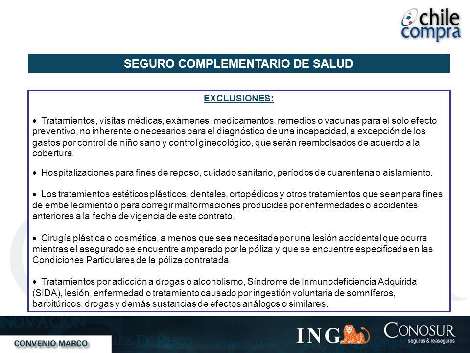 SEGURO COMPLEMENTARIO DE SALUD